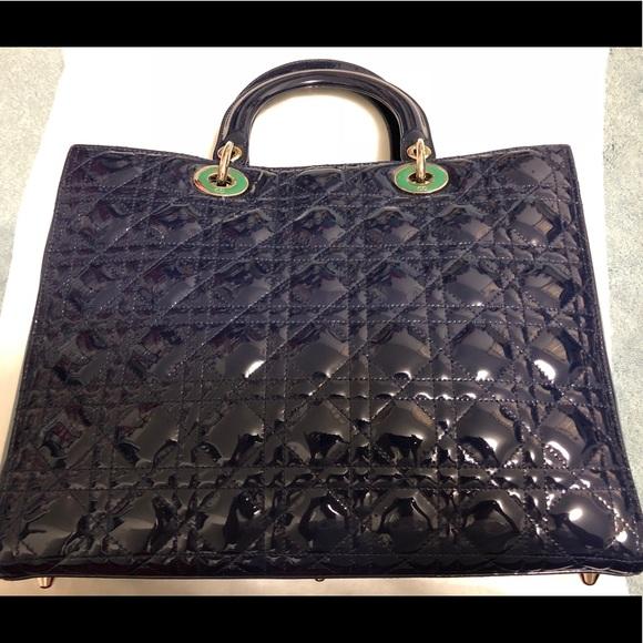b7b80469674 Dior Bags   Like New Lady Blue Patent Handbag Wstrap   Poshmark